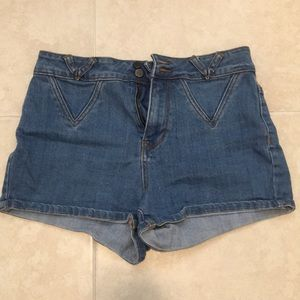 PacSun high waisted shorts 💙💙